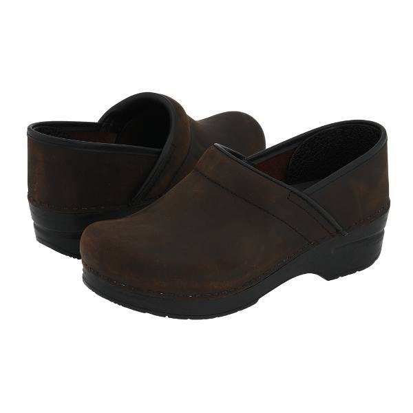 Dansko Professional Oiled Leather Clog - Antique Brown Oiled