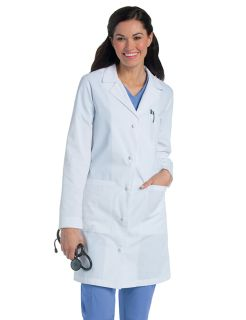 Landau Women's Knot Button Lab Coat