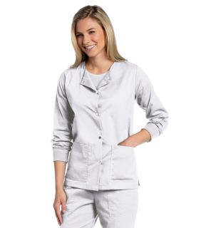 All Day Snap Front Warm-Up Scrub Jacket