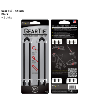 "Nite Ize Gear Tie 12"" (Pack of 2)"