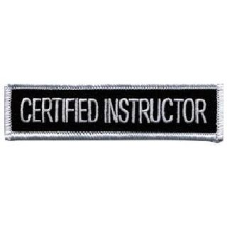 """Certified Instructor - 4 X 1"""""""