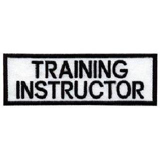 """Training Instructor - White On Black - 1-1/4"""""""" X 4"""""""
