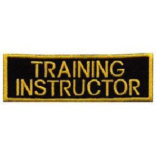 "Training Instructor - Gold On Black - 1-1/4 X 4"""