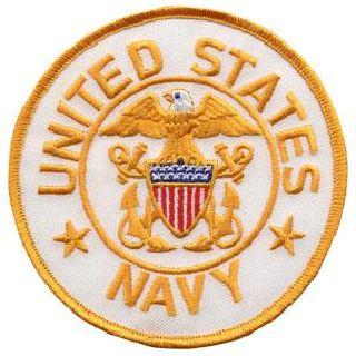 "United States Navy (White Twill) - 4"" Circle"