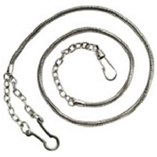 Whistle Chain With Button Style Hook - Gold