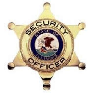 Security Officer w/ Il Seal - Traditional - Gold