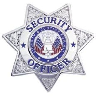 Security Officer - 7 Pt Star - Traditional - Gold