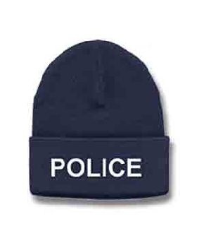 6889 White Lettering On Navy Watch Cap