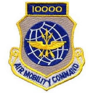 """10,000 Air Mobility Command - w/Hook - 3 X 3-1/2"""""""