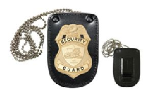 Universal U-Shaped Badge Holder With Hook Fastener