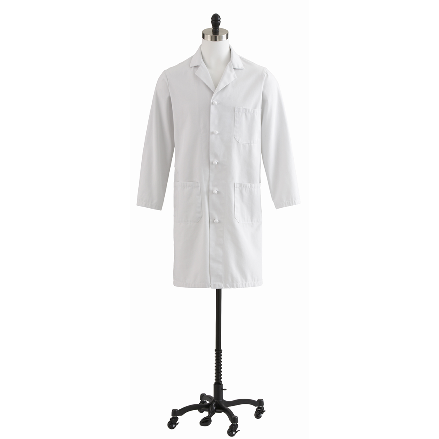 Men's Full Length White Lab Coat With Knot Button