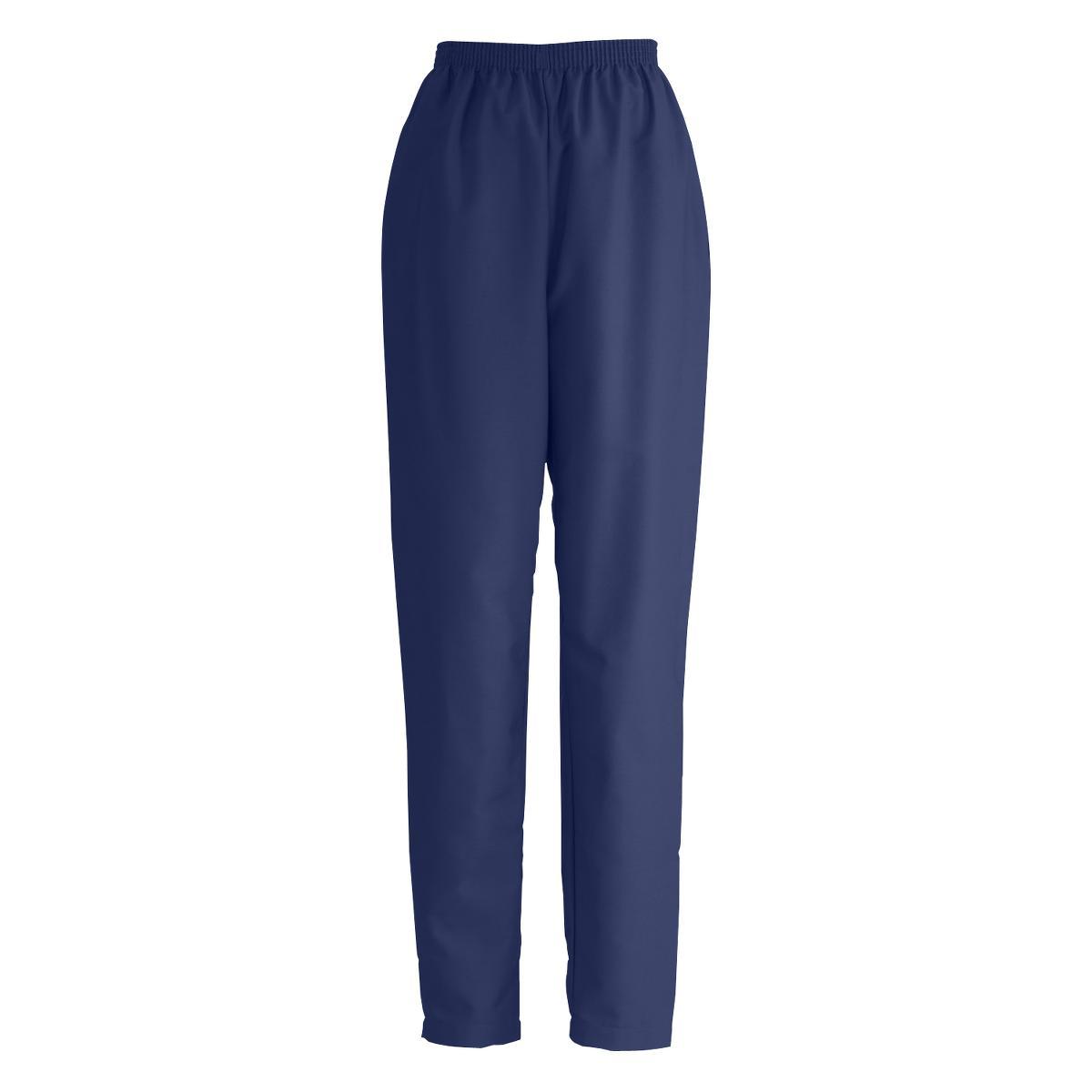 ComfortEase Elastic Waist Two-Pocket Petite Scrub Pants