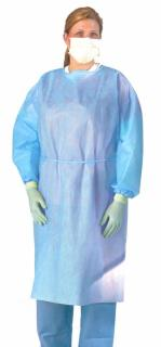 Medium Weight Multi-Ply Fluid Resistant Isolation Gown,Blue