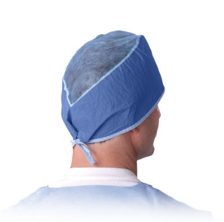 Disposable Surgeon's Caps,Dark Blue,One Size Fits Most