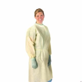 AAMI Level 2 Isolation Gowns,Yellow,Regular/Large
