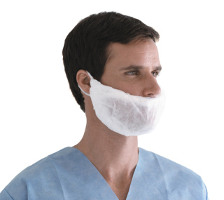 Head & Beard Covers,White,One Size Fits Most