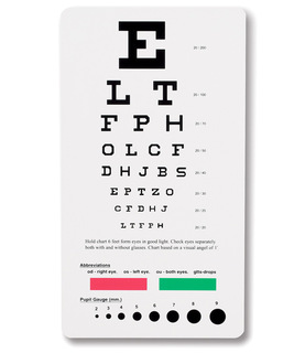 Snellen Pocket Eye Chart