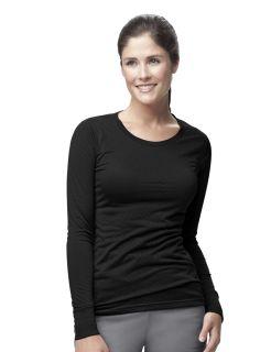 Women's Long Sleeve Burnout Jersey Tee