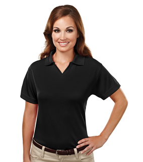 Ambition-Women's Poly Ultracool Mesh Johnny Collar Golf Shirt