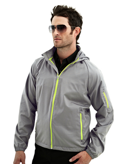 Cf-I-Men's 100% Polyester Rib Stop Water Resistant Long Sleeve Hoodly Jacket