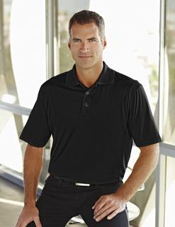 Glendale-Men's Poly Ultracool Jaquard Knit Golf Shirt