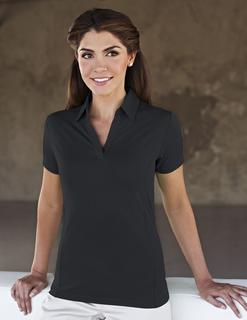Geneva-Women's 90% Polyester / 10% Spandex Knit Polo Shirt