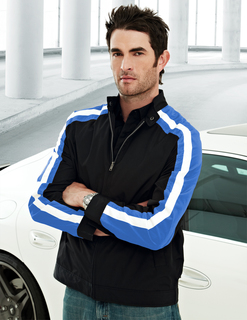 Superbike-Men's 100% Polyester Long Sleeve Tmr Wind Jacket With Water Resistent
