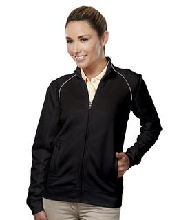 Exeter-Women's 100% Polyester Full Zip Ls Knit Shirt