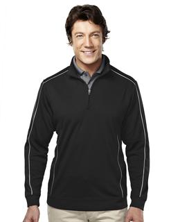 Durham-Men's 100% Polyester 1/4 Zip Ls Knit Shirt