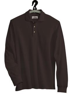 Monument-Cotton Pique Long Sleeve Golf Shirt