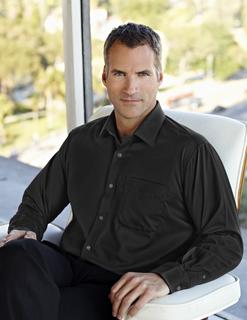 Blake-Men's 100% Cotton Non-Iron Twill Dress Shirt