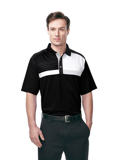 Marquis-Men's 100% Polyester Knit S/S Golf Shirt