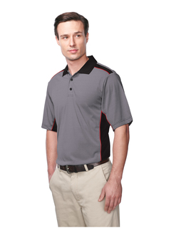 Accolade-Men's 100% Polyester Knit S/S Golf Shirt