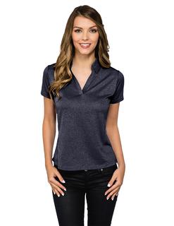 Gala-Women's 5 Oz 100% Polyester Heather Jersey Polo