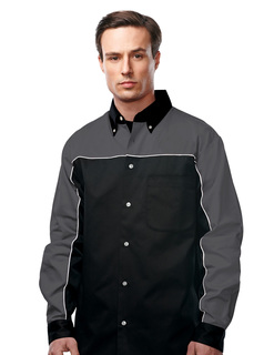 Downshifter Long Sleeve-Men's 60% Cotton 40% Polyester Twill Woven Long Sleeve Shirt