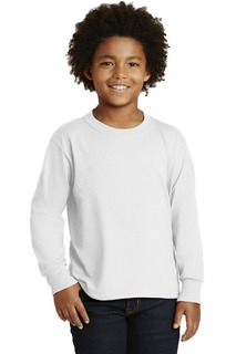 Jerzees® Youth Dri-Power® Active 50/50 Cotton/Poly Long Sleeve T-Shirt.