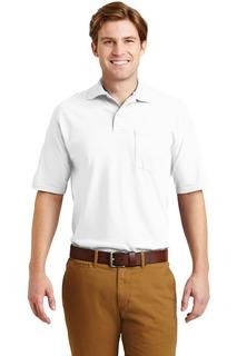 Jerzees® -SpotShield 5.6-Ounce Jersey Knit Sport Shirt with Pocket.