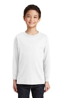 Gildan® Youth Heavy Cotton 100% Cotton Long Sleeve T-Shirt.