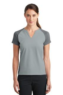 Nike Golf Ladies Dri-FIT Stretch Woven V-Neck Top.