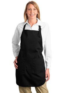 Port Authority® Full Length Apron with Pockets.