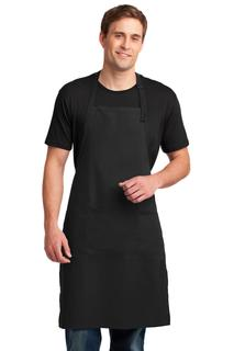 Port Authority® Easy Care Extra Long Bib Apron with Stain Release.