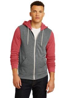 Alternative® Colorblock Rocky Eco-Fleece Zip Hoodie.