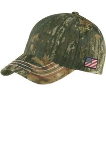 Port Authority® Americana Contrast Stitch Camouflage Cap.