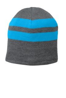 Port & Company® Fleece-Lined Striped Beanie Cap.