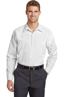 Red Kap® - Long Sleeve Striped Industrial Work Shirt.