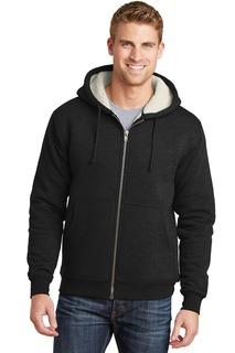 CornerStone® Heavyweight Sherpa-Lined Hooded Fleece Jacket.