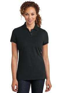 District Made® Ladies Stretch Pique Polo.