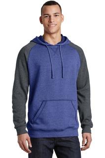 District® Young Mens Lightweight Fleece Raglan Hoodie.
