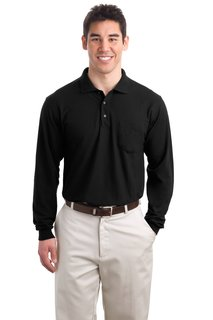 Port Authority® Tall Silk Touch Long Sleeve Polo with Pocket.