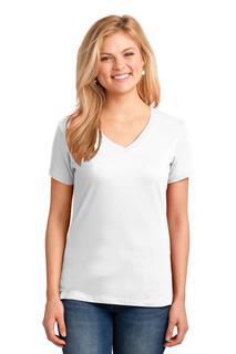Port & Company® Ladies Core Cotton V-Neck Tee.
